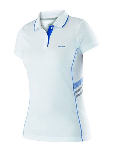 Head Club W Polo Technical White Blue