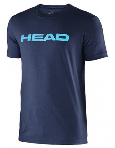 Head Ivan JR T-Shirt Navy Aqua
