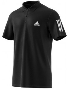 Adidas Club 3 Stripes Polo Black/White