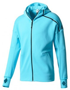 Adidas Zone Hoody Women Blue