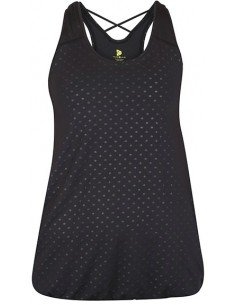 Pure Lime Shadow Dot Tank Black