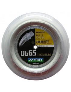 Yonex BG 65 TI Badminton White 0.70mm