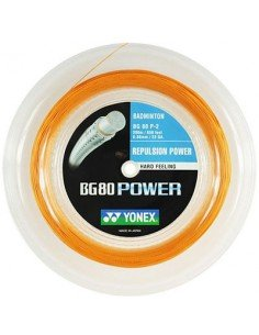 Yonex BG 80 Power Badminton Bright Orange 0.68mm