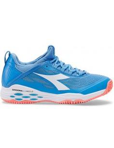 38e61b6070e Diadora Speed BluShield Fly SG Blue/Coral. Beschikbaar. Tennisschoenen