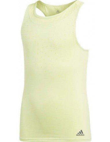 Adidas Girls Dotty Tee Yellow