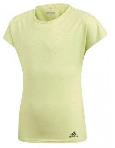 Adidas Girls Dotty Shirt Yellow