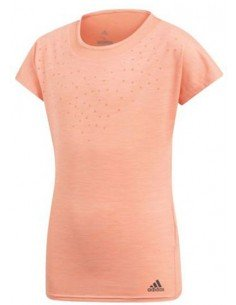 Adidas Girls Dotty shirt Coral