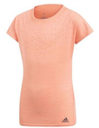 Adidas Girls Dotty shirt Coral