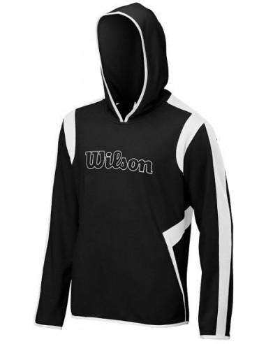 Wilson M Knit Hoody Black White