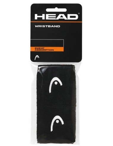 Head Wristband 2.5 inch Black