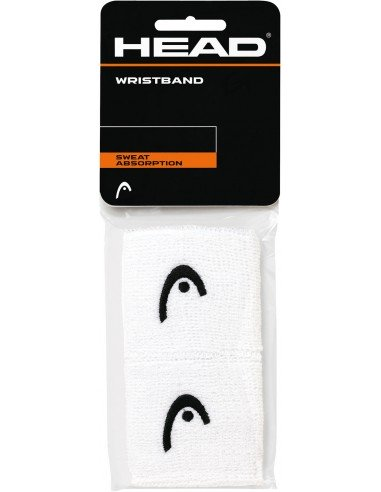 Head Wristband 2.5 inch White