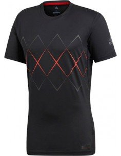 Adidas Barricade Argyle Tee Men Black