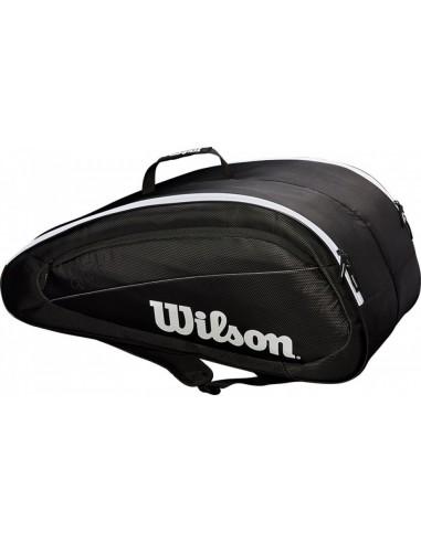 Wilson Federer Team 12 Pack Black/White