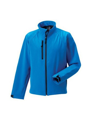 Russell Mens Soft Shell Jacket Azure