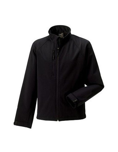 Russell Mens Soft Shell Jacket Black