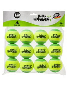 Unlimited Balls Stage 1 Green/Yellow 12 stuks