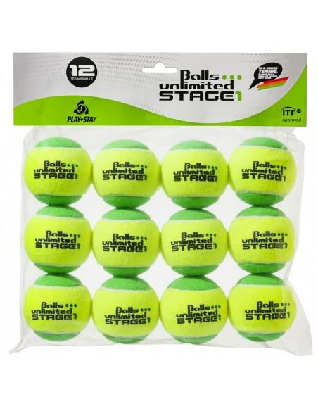 Unlimited Balls Stage 1 Green/Yellow 12 stuks