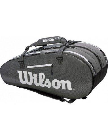Wilson Super Tour 3 Comp Bag Black/Grey