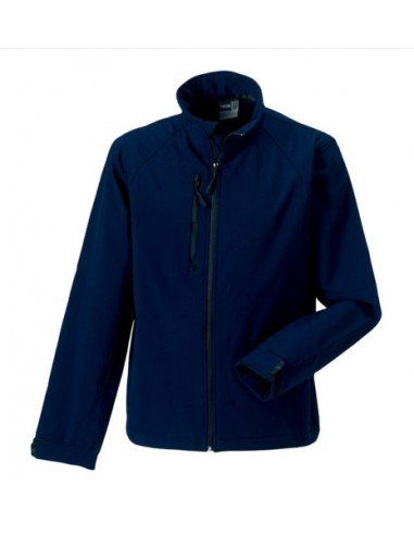 Russell Mens Soft Shell Jacket Navy
