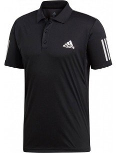 Adidas Club 3 Stripes Polo Men Black