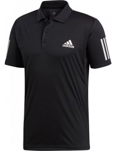 Adidas Club 3 Stripes Polo Men Black