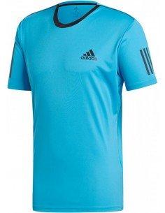 Adidas Club 3 Stripes Tee Men Blue
