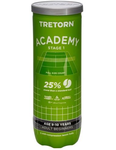 Tretorn Academy Stage 1 Groen (Doos 24x3-pack)