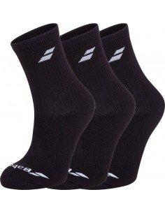 Babolat 3 Pairs Pack Socks Black