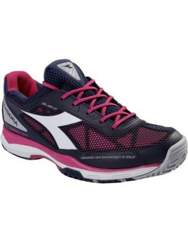 Diadora Speed Pro Evo Clay Woman Blauw/roze