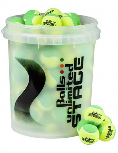 Balls Unlimited Stage 1 Green/Yellow Bucket (60 stuks)
