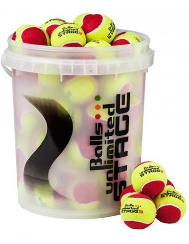 Unlimited Balls Stage 3 Yellow/Red Bucket (60 stuks)