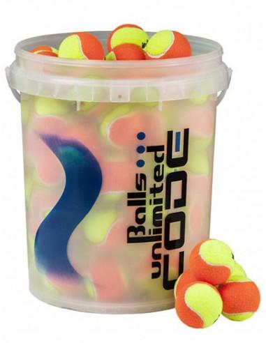 Balls Unlimited Code Blue Geel/Oranje Bucket (60 stuks)