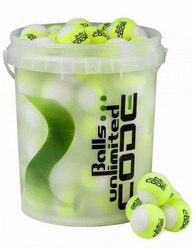 Balls Unlimited Code Green Geel/Wit Bucket (60 stuks)